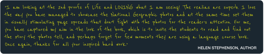 National Geographic & Cengage Learning Life Testimonial